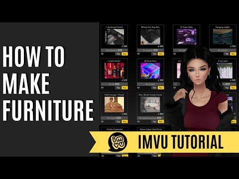 How to Create Furniture   IMVU   2017  