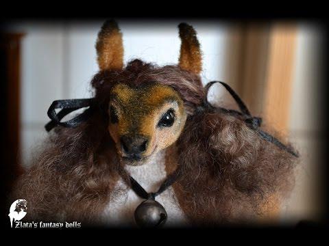 Furry Art Deer doll Olena by Zlata's fantasy dolls