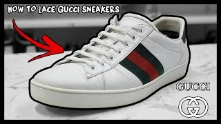 HOW TO FACTORY LACE GUCCI ACE SNEAKERS THE RIGHT WAY!