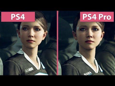 [4K] Detroit Become Human –  PS4 vs. PS4 Pro Graphics Comparison