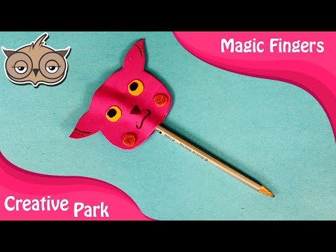 DIY Crafts - How To Make Paper Cartoon Pencil Toppers/Covers For Kids 01 - Back To School Supplies