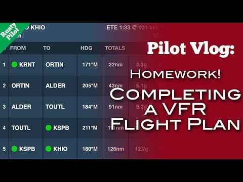 Pilot Vlog #9: Completing a VFR Flight Plan - Rusty Pilot