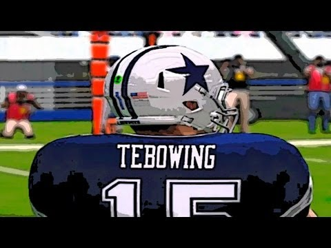 Madden 12 Franchise: Tim Tebow Tebowing vs the New England Patriots in Foxborough MA (Highlights)
