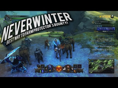 Neverwinter: Best way to Farm Protector's Bounty (Get your Throne in an Hour)