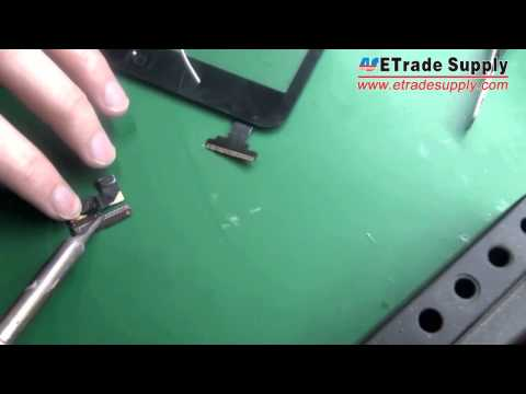 iPad Mini Touch Screen Repair - How to Change the Digitizer Flex Cable Connector on Replacement