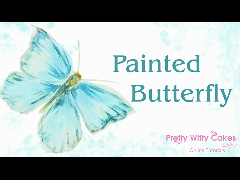 How to Paint a Beautiful Blue Butterfly - Pretty Witty Cakes