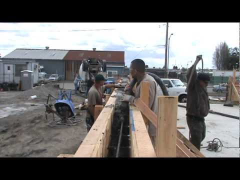 how to pour a concrete wall