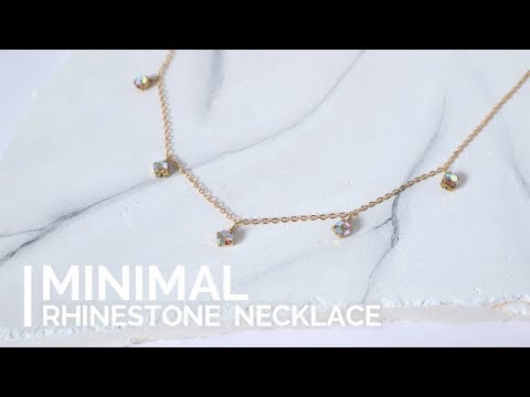 DIY Easy Rhinestone Necklace