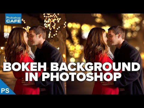 How to add BOKEH to a photo and BLUR BACKGROUND in photoshop tutorial