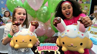 Download Giant Squishy Toys Challenge!! Smooshy Mushy Party | Toys AndMe Video