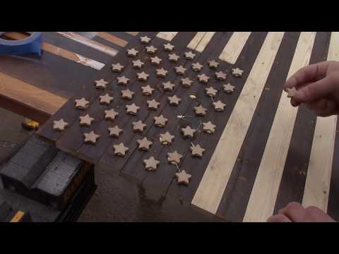 How to make a distressed/rustic wooden American Flag for under $20 using a 2x4