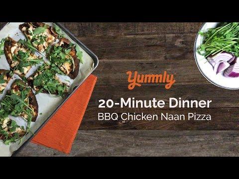 20 Minute Dinner: BBQ Chicken Pizza