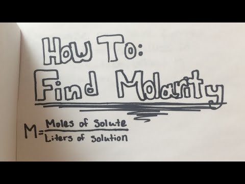 How To: Find Molarity (EASY steps w/ practice problems)
