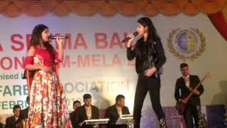 Prateeksha Srivastav and Priyanshi Srivastav live on stage - 3 February 2018 :