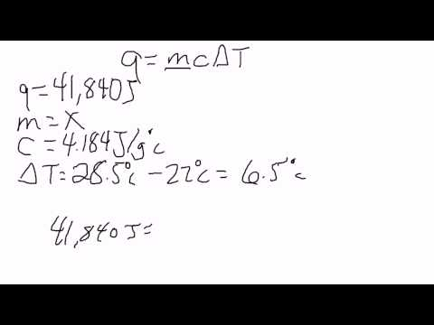 Specific Heat - Solving for the Mass Using the Specific Heat Formula