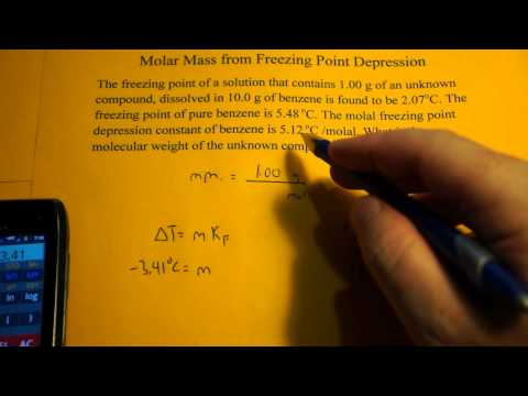Calculating Molar Mass from Freezing Point Depression