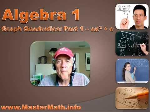 Algebra 1 - Graphing Quadratics Part 1