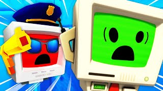 Making ILLEGAL ITEMS To Get JOB BOT ARRESTED In VR (Funny Job Simulator VR Gameplay)