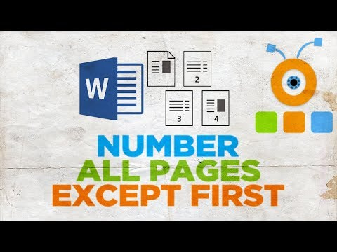 How to Number All Pages Except First in Word 2019