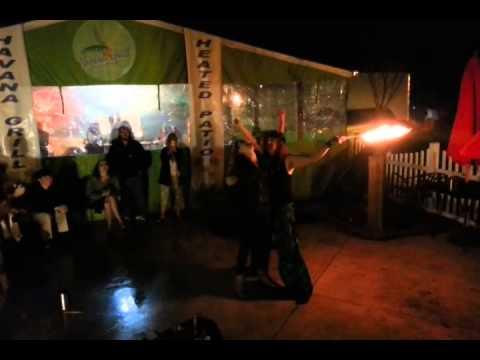 Mermaid Hyli Eats Fire at Merfest