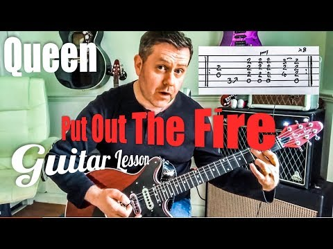 Queen - Put Out The Fire - Guitar Lesson (Guitar Tab)