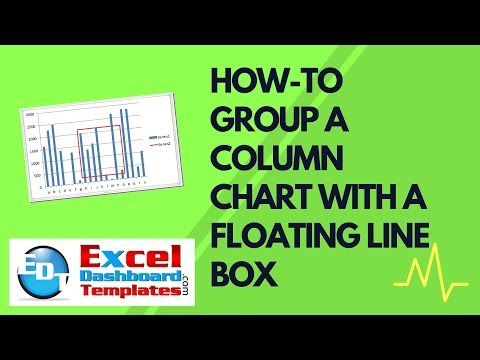 How-to Group a Column Chart with A Floating Line Box in Excel