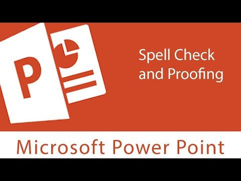 Powerpoint : Spell Check and Proofing | Modifying Proofing