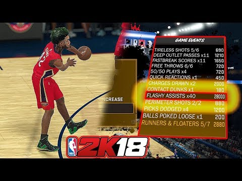 How to get  HALL OF FAME FLASHY PASSER FAST - NBA 2K18 TUTORIAL