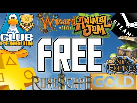 HOW TO GET FREE MEMBERSHIPS FOR ALL ONLINE GAMES !!