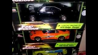 fast & furious diecast 1/18 scale colletion