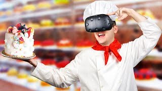 Virtual Reality Cake Making! - Batter Up! VR Gameplay - VR HTC Vive