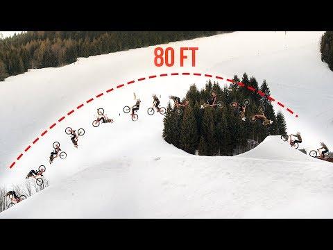 80 ft. DOUBLE BACKFLIP on a Downhill Bike - Behind the Scenes of Fabiolous Escape 2