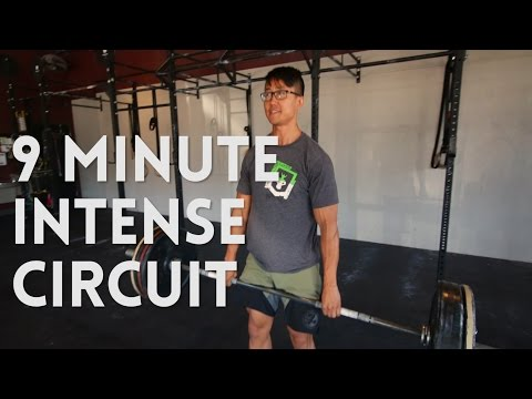 9 Minute Deadlift Circuit Workout - Cardio and Muscle Building