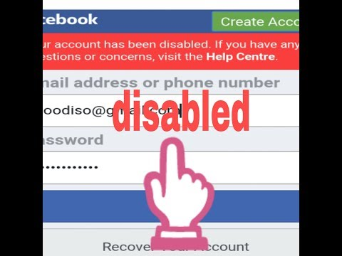 How To Open Facebook Disabled Account Trick 2017  july 3