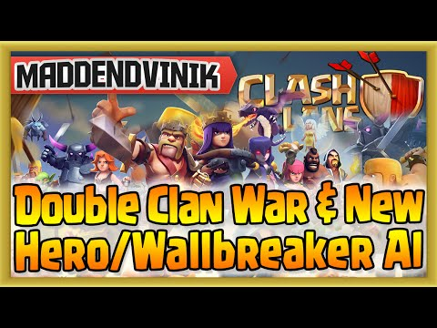Clash of Clans - Double Clan War & New Hero/Wallbreaker AI (Gameplay Commentary)