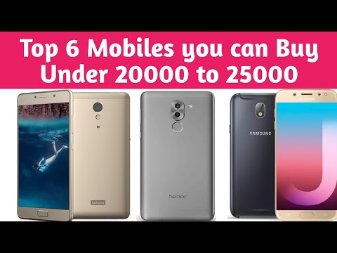 Top 6 Mobiles from 20000 to 25000 in Pakistan