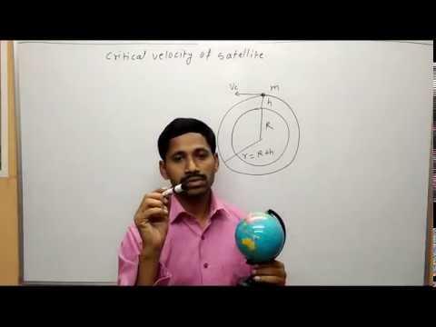 Gravitation Maharashtra Board Physics Critical velocity of Satellite