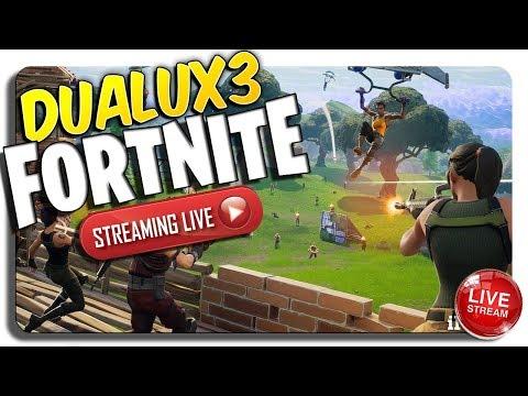 DUALUX3 LIVE Fortnite (2 WINS + LOL Moments)
