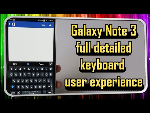 Galaxy Note 3 detailed keyboard user experience PLUS: Experiment using an AA batery on top of it