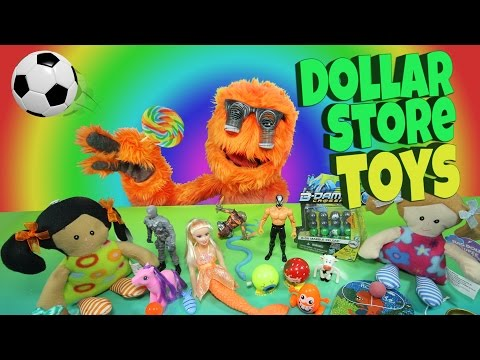 $1 Toys for Kids - Dollar Store Video Review & Budget Bargain Toys // Fuzzy Puppet