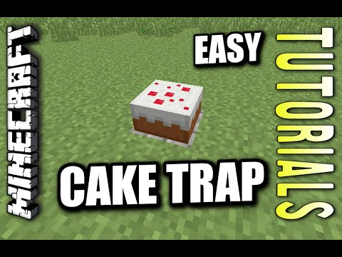 Minecraft PS4 - CAKE TRAP - EASY - How To - Tutorial ( PS3 / XBOX )