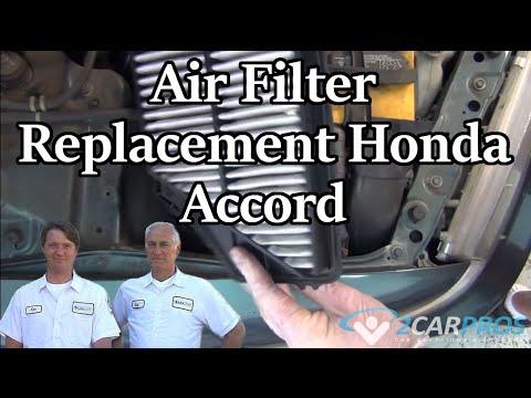 Air Filter Replacement Honda Accord 1997-2002