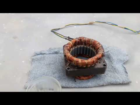 How to Varnish old motor coil
