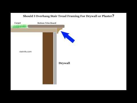 Problems With Extending Treads And Risers For Drywall - Building Wood Handrails