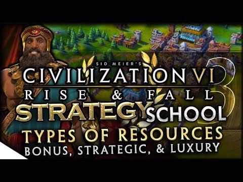 Resources Primer - Bonus, Strategic, & Luxury   Civilization VI: Rise & Fall — Strategy School 3