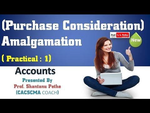 Amalgamation = Problem 1 = Purchase Consideration Net Asset Method & Net Payment Method