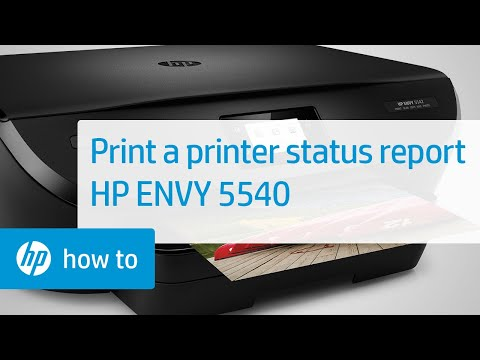 Printing a Printer Status Report on the HP ENVY 5540 Printer