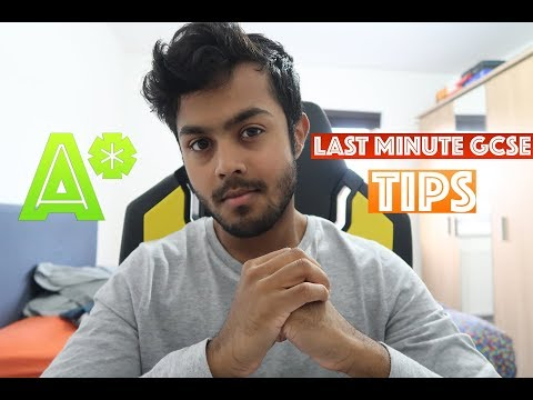 Last Minute GCSE Revision Tips That Will Save Your Grades - How To Get A* At GCSE