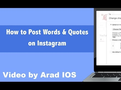 How to Post Words & Quotes (iPhone & iPad) on Instagram