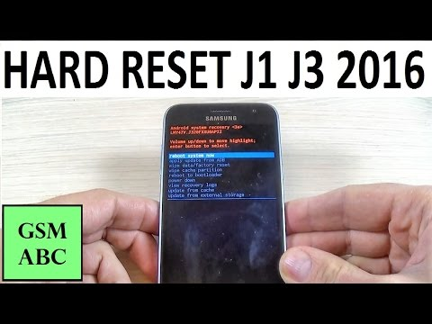 HARD RESET Samsung Galaxy J1, J3 (2016)  How to Reset to Factory Settings